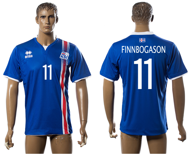 Iceland 11 FINNBOGASON Home UEFA Euro 2016 Thailand Jersey