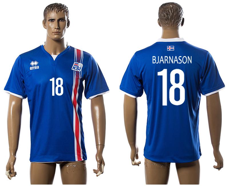 Iceland 18 BJARNASON Home UEFA Euro 2016 Thailand Jersey