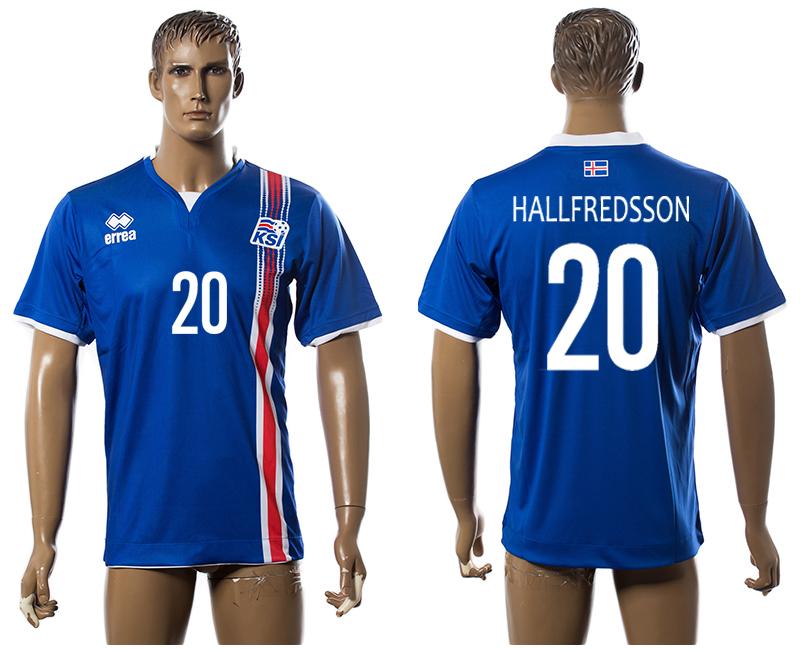 Iceland 20 HALLFREDSSON Home UEFA Euro 2016 Thailand Jersey