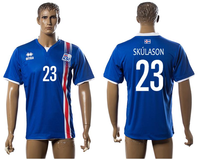 Iceland 23 SKULASON Home UEFA Euro 2016 Thailand Jersey