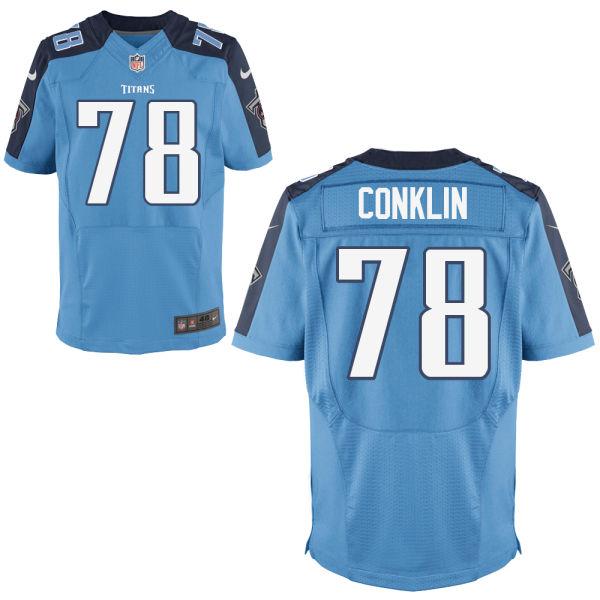 Nike Titans 78 Jack Conklin Light Blue Elite Jersey