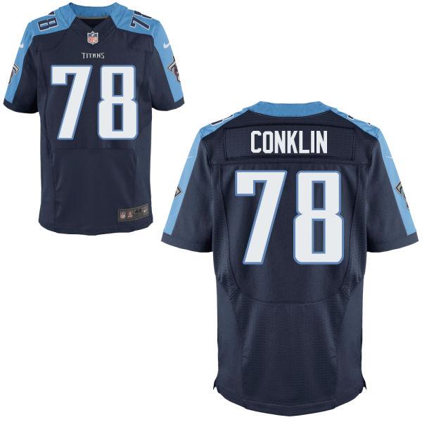 Nike Titans 78 Jack Conklin Navy Elite Jersey