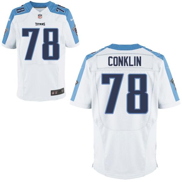 Nike Titans 78 Jack Conklin White Elite Jersey