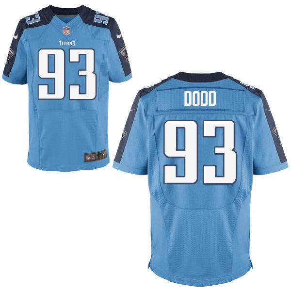 Nike Titans 93 Kevin Dodd Light Blue Elite Jersey