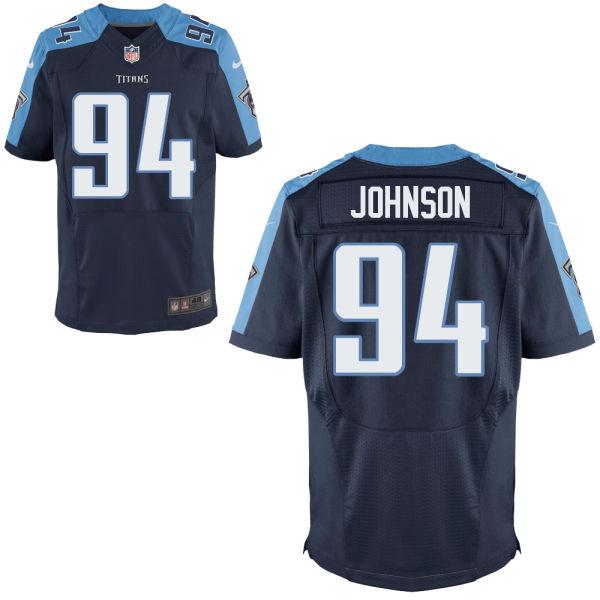 Nike Titans 94 Austin Johnson Navy Elite Jersey