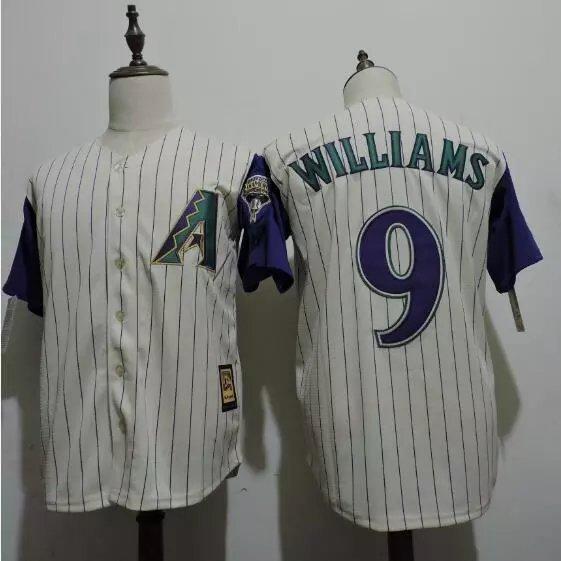 Diamondbacks 9 Matt Williams Cream Throwback Collection Jersey