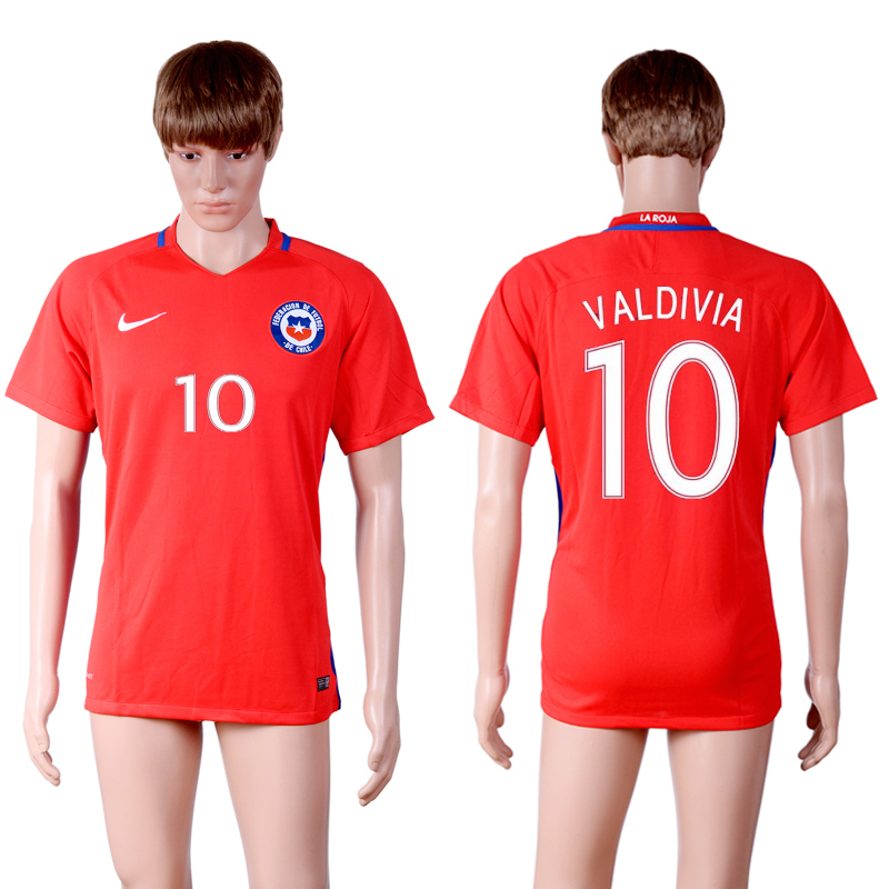 2016-17 Chile 10 VALDIVIA Home Thailand Soccer Jersey