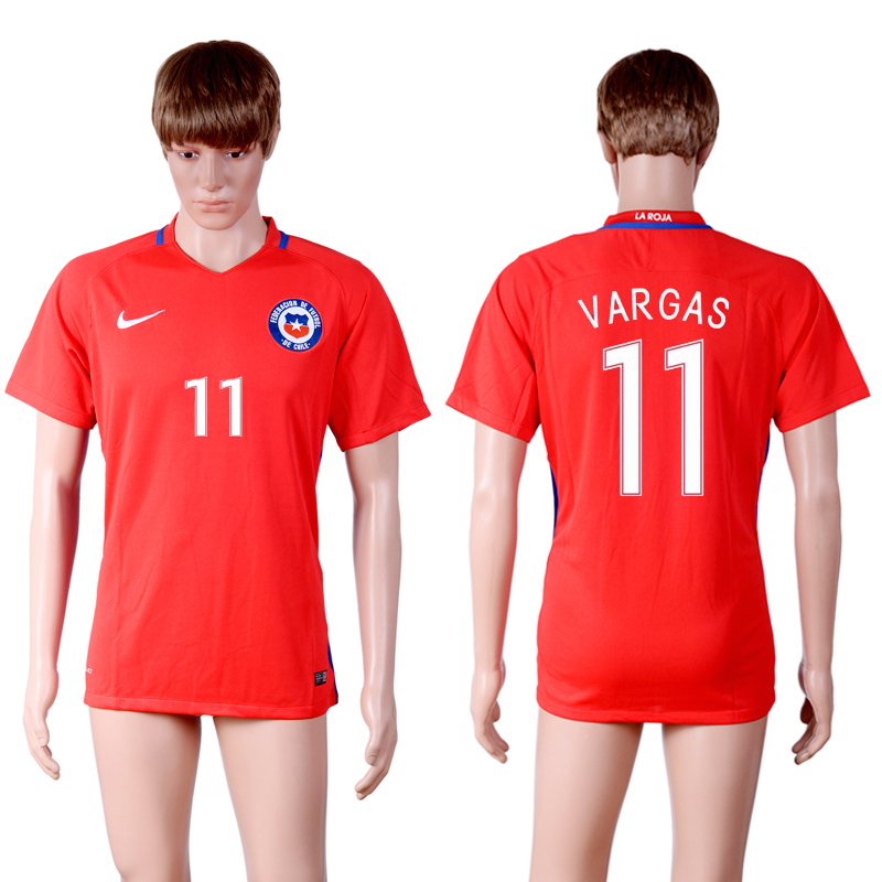 2016-17 Chile 11 VARGAS Home Thailand Soccer Jersey