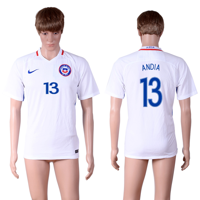 2016-17 Chile 13 ANDIA Away Thailand Soccer Jersey
