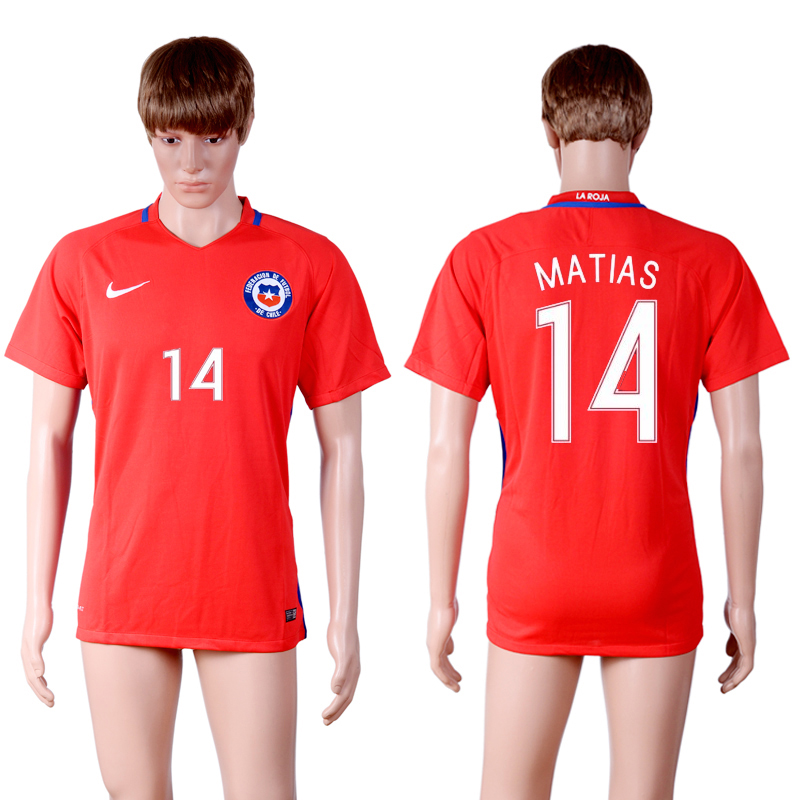 2016-17 Chile 14 MATIAS Home Thailand Soccer Jersey