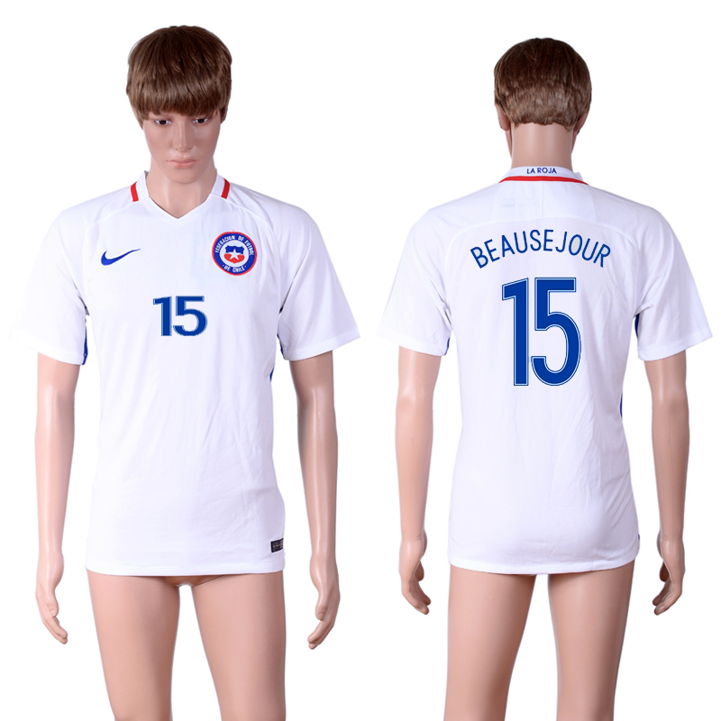2016-17 Chile 15 BEAUSEJOUR Away Thailand Soccer Jersey