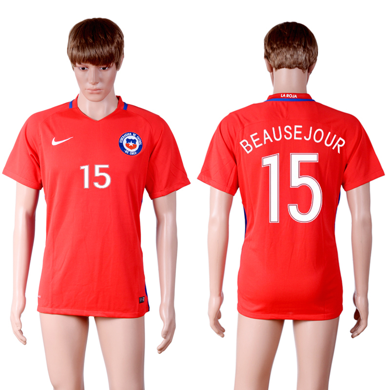 2016-17 Chile 15 BEAUSEJOUR Home Thailand Soccer Jersey