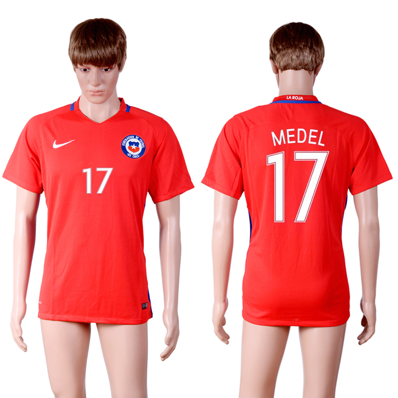 2016-17 Chile 17 MEDEL Home Thailand Soccer Jersey