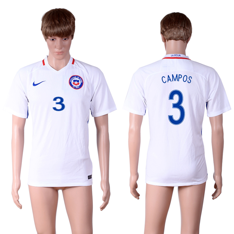 2016-17 Chile 3 CAMPOS Away Thailand Soccer Jersey