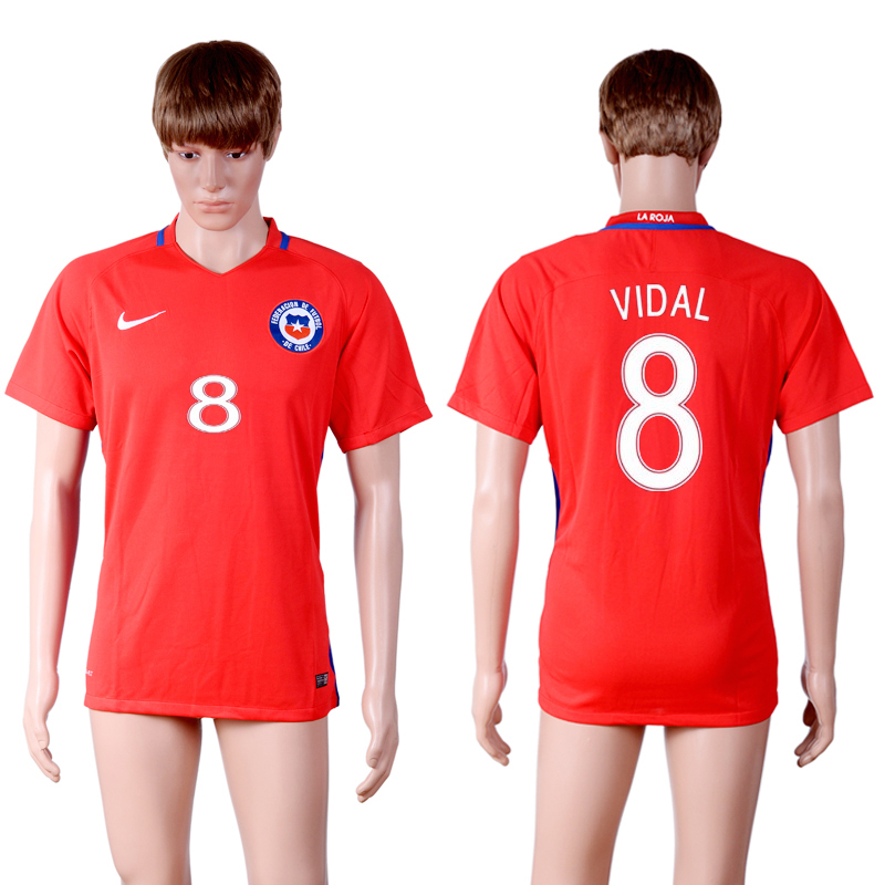 2016-17 Chile 8 VIDAL Home Thailand Soccer Jersey