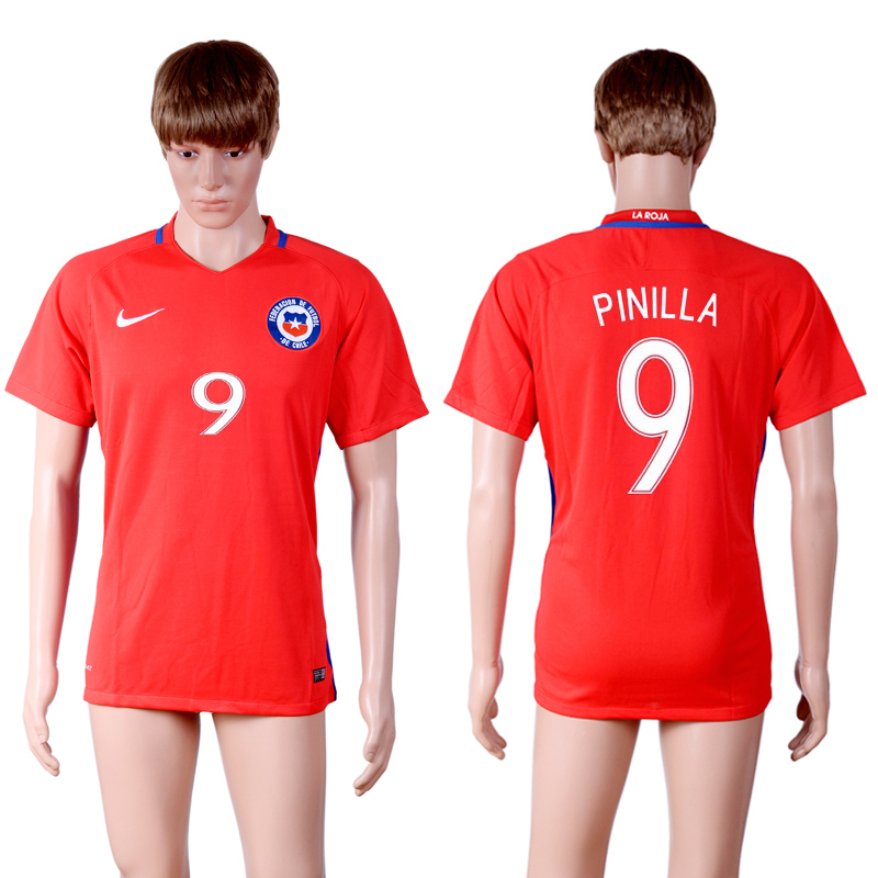 2016-17 Chile 9 PINILLA Home Thailand Soccer Jersey