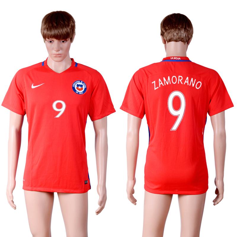 2016-17 Chile 9 ZAMORANO Home Thailand Soccer Jersey