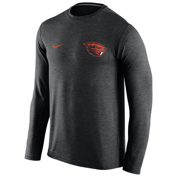 Oregon State Beavers Nike Stadium Dri-Fit Touch Long Sleeve T-Shirt Black