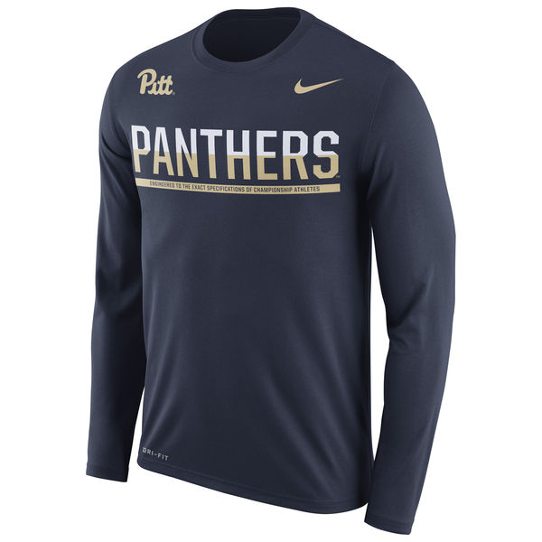 Pitt Panthers Nike 2016 Staff Sideline Dri-Fit Legend Long Sleeve T-Shirt Navy