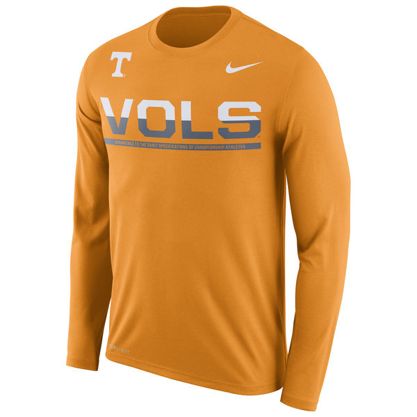Tennessee Volunteers Nike 2016 Staff Sideline Dri-Fit Legend Long Sleeve T-Shirt Orange
