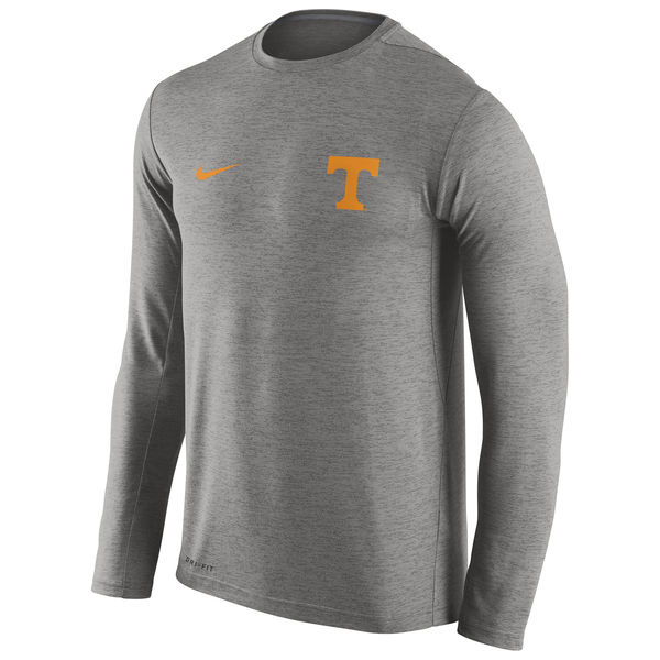 Tennessee Volunteers Nike Stadium Dri-Fit Touch Long Sleeve T-Shirt Grey