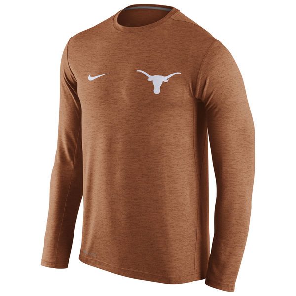 Texas Longhorns Nike Stadium Dri-Fit Touch Long Sleeve T-Shirt Orange