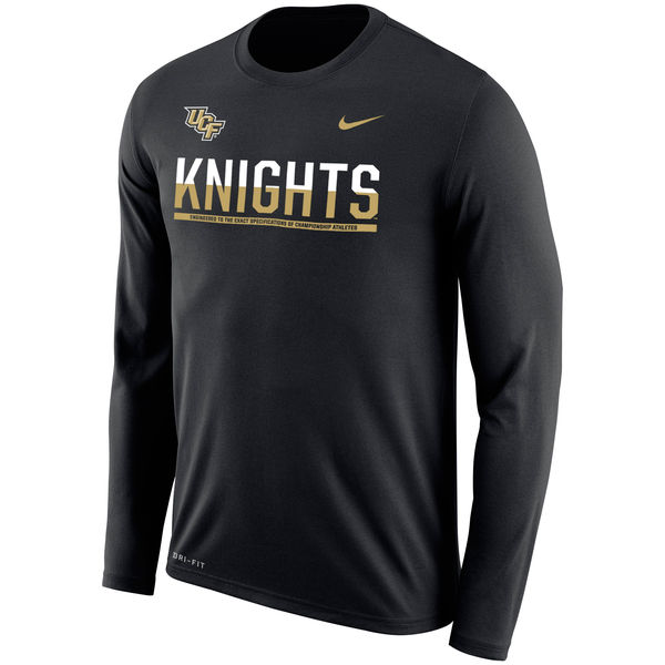 UCF Knights Nike 2016 Staff Sideline Dri-Fit Legend Long Sleeve T-Shirt Charcoal