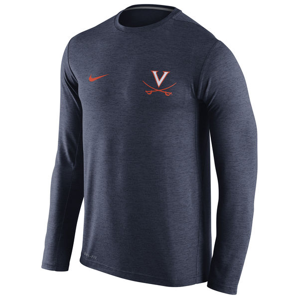 Virginia Cavaliers Nike Stadium Dri-Fit Touch Long Sleeve T-Shirt Navy