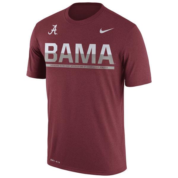 Alabama Crimson Tide Nike 2016 Staff Sideline Dri-Fit Legend T-Shirt Crimson