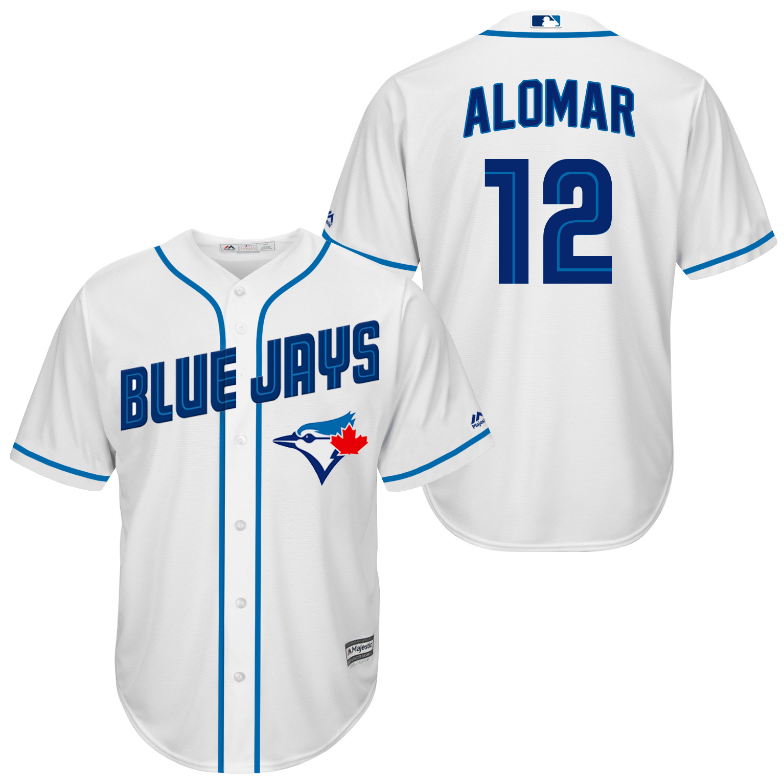 Blue Jays 12 Roberto Alomar White New Cool Base Jersey