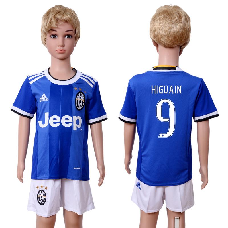 2016-17 Juventus 9 HIGUAIN Away Youth Soccer Jersey