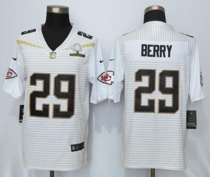 Nike Chiefs 29 Eric Berry White 2016 Pro Bowl Elite Jersey
