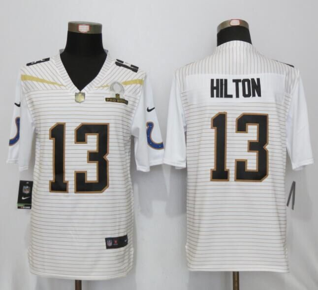 Nike Colts 13 T.Y. Hilton White 2016 Pro Bowl Elite Jersey
