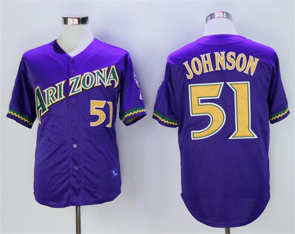 Diamondbacks 51 Randy Johnson Purple Throwback Jersey