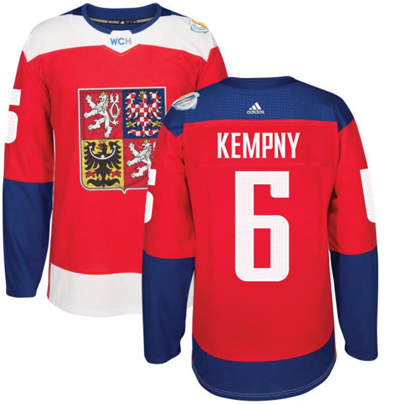 Czech Republic 6 Michal Kempny Red 2016 World Cup Of Hockey Premier Player Jersey