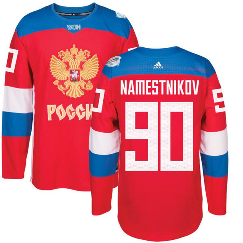 Russia 90 Vladislav Namestnikov Red 2016 World Cup Of Hockey Premier Player Jersey