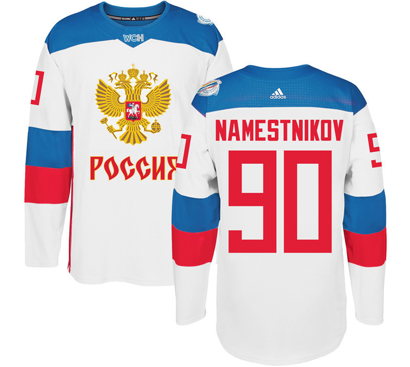 Russia 90 Vladislav Namestnikov White 2016 World Cup Of Hockey Premier Player Jersey