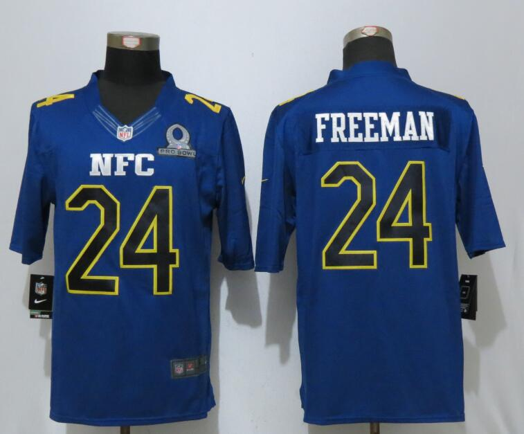 Nike Falcons 24 Devonta Freeman Blue 2017 Pro Bowl Limited Jersey