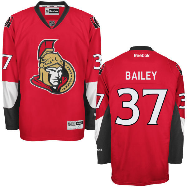 Senators 37 Casey Bailey Red Reebok Premier Jersey