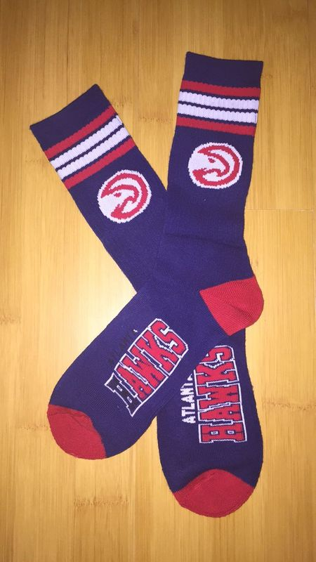 Hawks Team Logo Navy NBA Socks