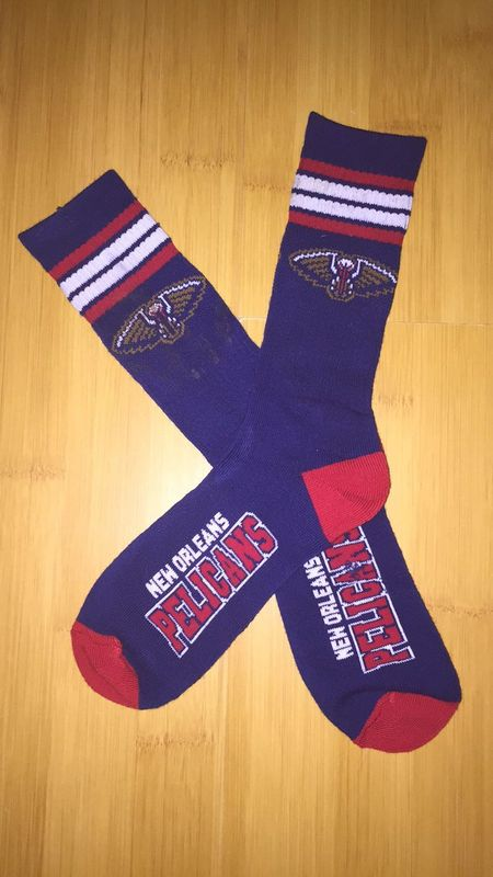 Pelicans Team Logo Purple NBA Socks