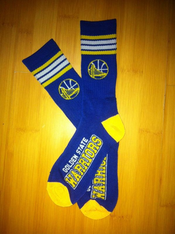Warriors Team Logo Blue NBA Socks