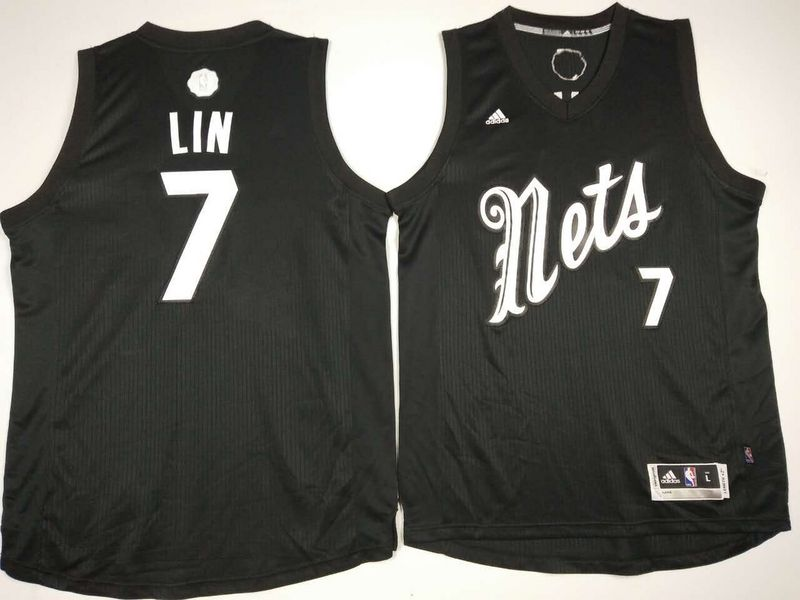Nets 7 Jeremy Lin Black 2016 Christmas Day Swingman Jersey