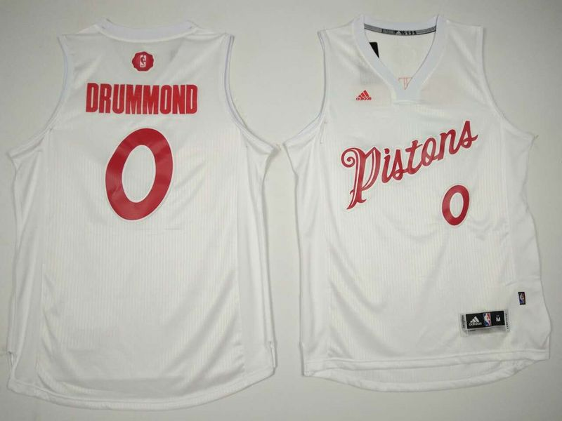 Pistons 0 Andre Drummond White 2016 Christmas Day Swingman Jersey
