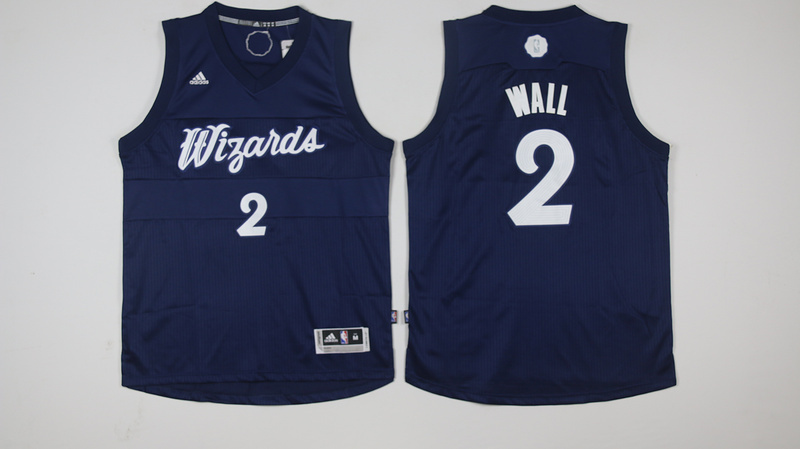Wizards 2 John Wall Navy 2016 Christmas Day Swingman Jersey