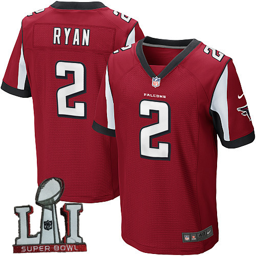 Nike Falcons 2 Matt Ryan Red 2017 Super Bowl LI Elite Jersey