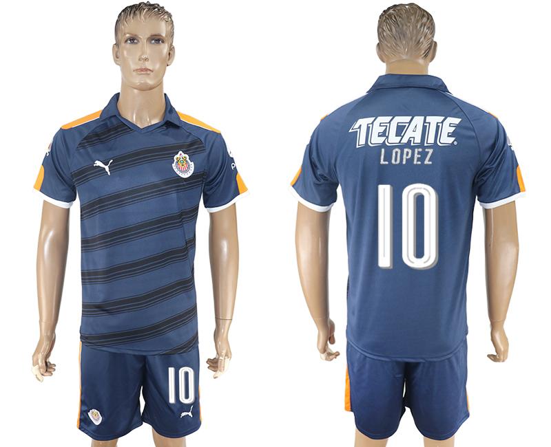 2016-17 Guadalajara 10 LOPEZ Third Away Soccer Jersey
