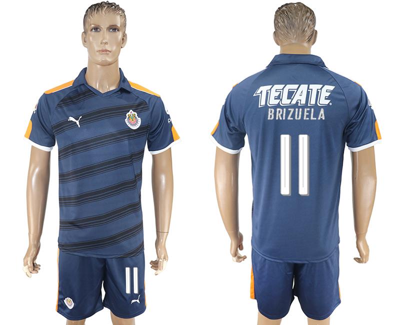 2016-17 Guadalajara 11 BRIZUELA Third Away Soccer Jersey