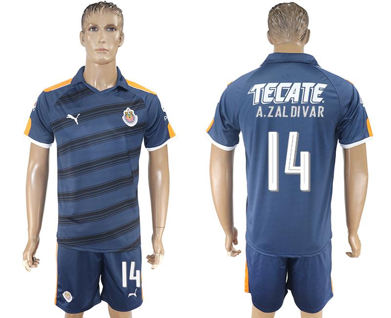 2016-17 Guadalajara 14 A.ZAL DIVAR Third Away Soccer Jersey