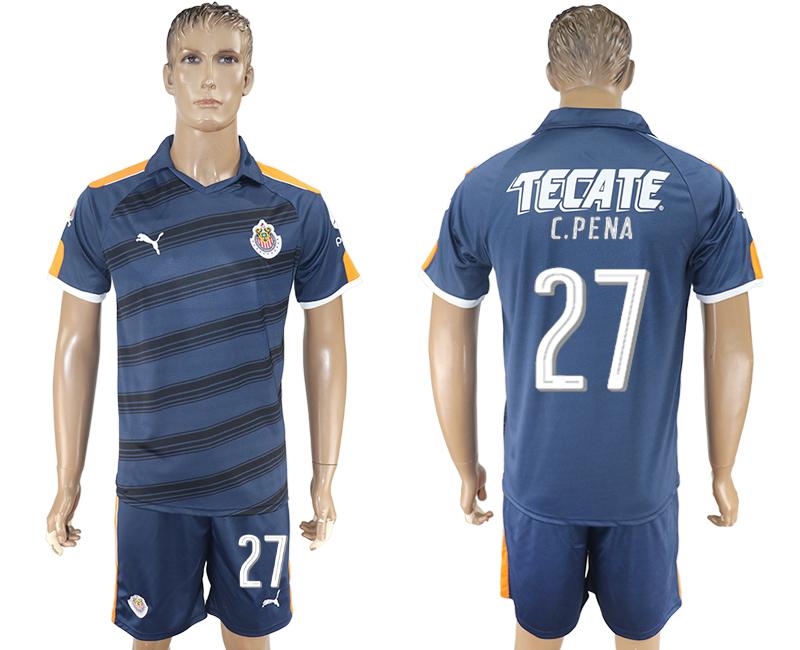 2016-17 Guadalajara 27 C.PENA Third Away Soccer Jersey